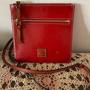 Dooney & Bourke Leather Flat Crossbody Double Zip Bag